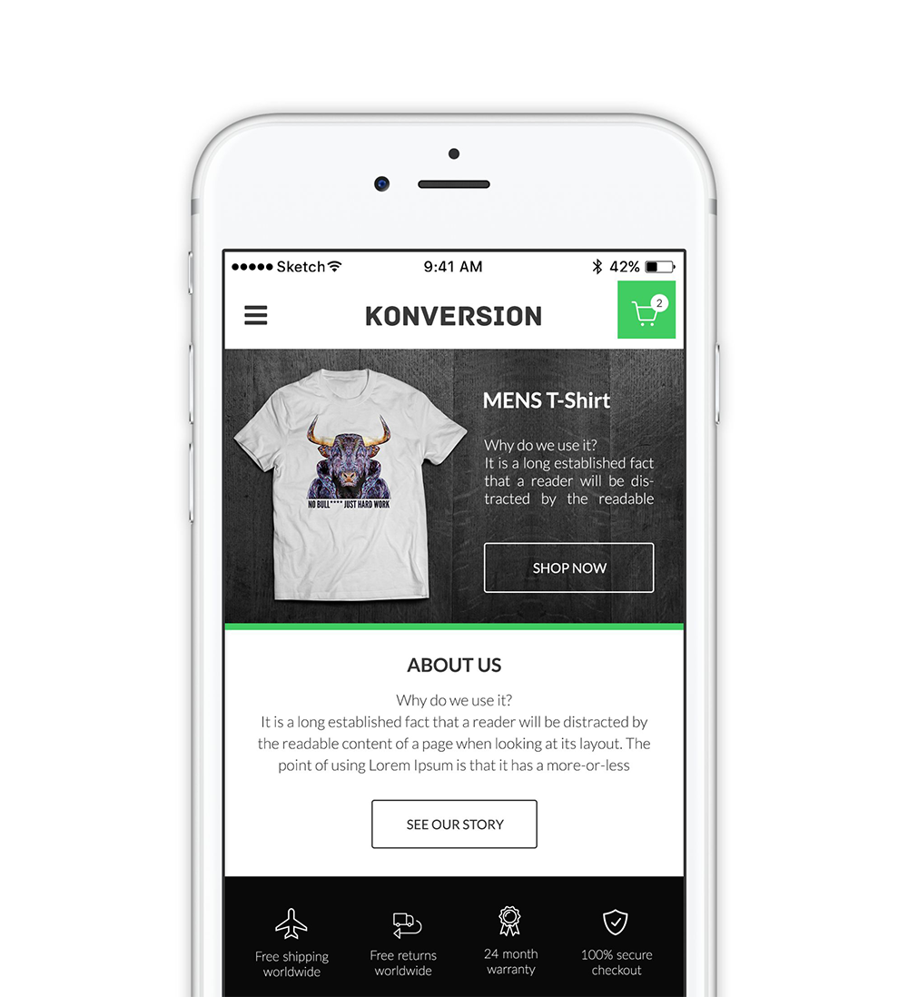 Konversion theme Shopify