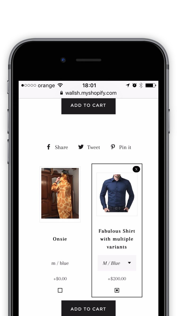 Upsell Shopify on Mobile