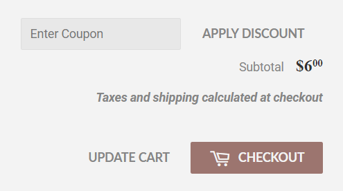 Supply theme for Shopify - carter coupon field in cart