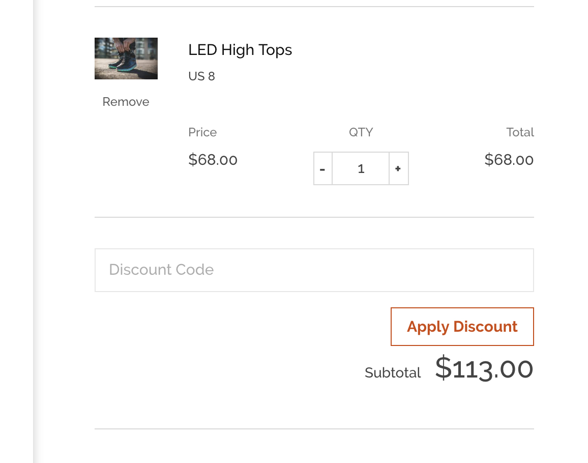 Shopify theme Pop coupons in cart