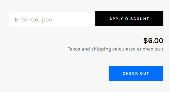 Venture theme for shopify - carter coupon field in cart